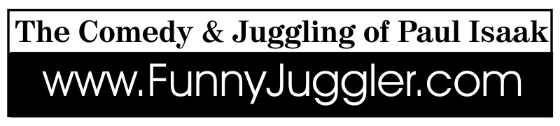 The Comedy & Juggling of Paul Isaak Logo - www.FunnyJuggler.com