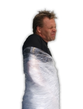Paul Isaak Performing his original Saran Wrap Escape